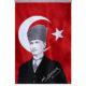 Kalpaklı Atatürk Bayrağı